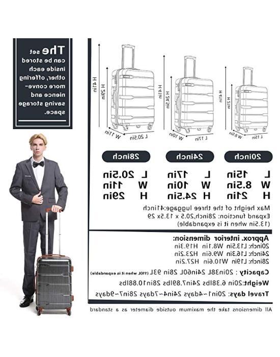 Coolife 3 Piece Built-In TSA Lock