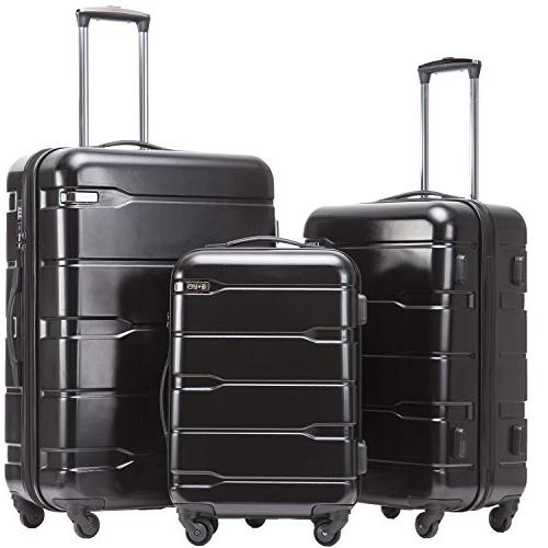 luggage expandable 3 piece sets pc abs