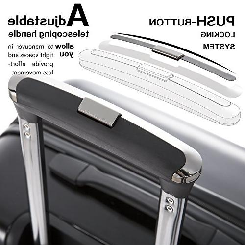 Coolife Luggage Piece Spinner Suitcase 20 inch
