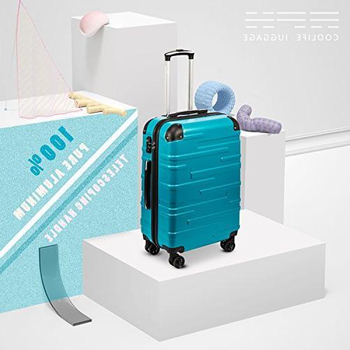 Coolife Luggage 3 Piece Set with TSA Lock