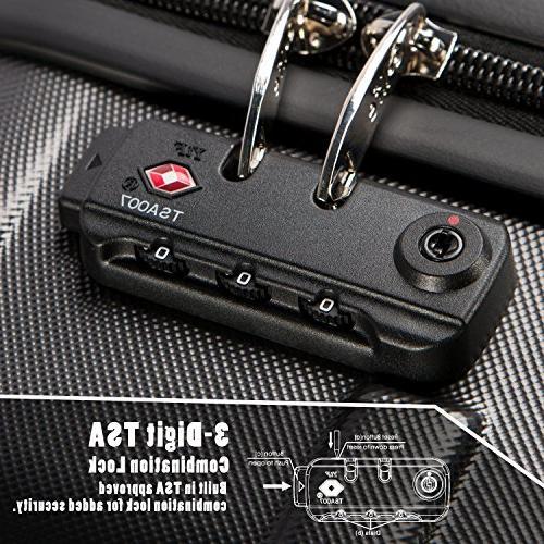3 Piece Set TSA Lock Spinner 20in24in28in