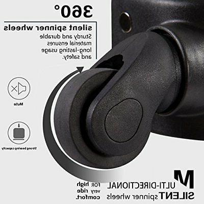 Coolife Expandable Suitcase Spinner Softshell Lock L28in