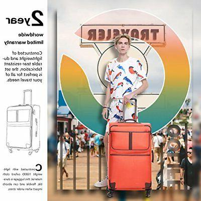 Coolife Expandable Suitcase Spinner TSA L28in