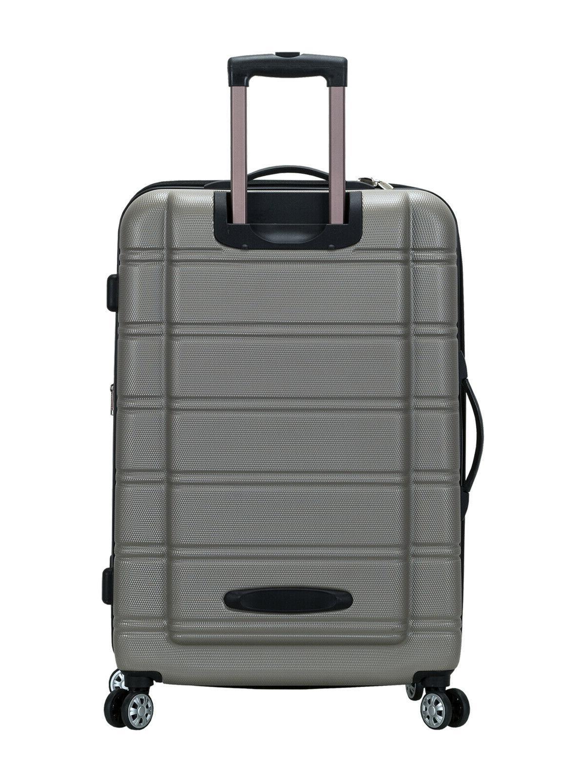 luggage melbourne 3 piece hardside luggage set