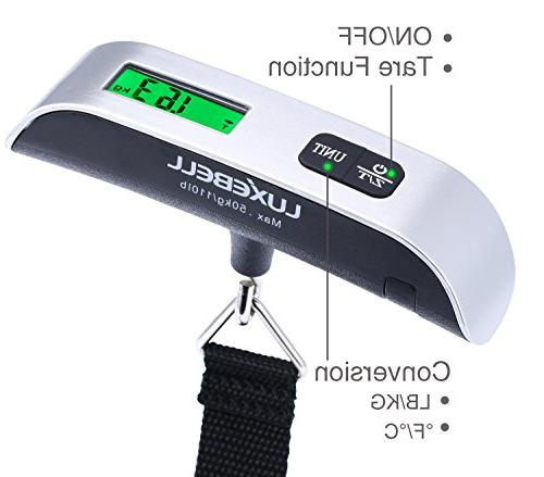 Luxebell Digital Luggage Scale 110lbs with Temperature Display