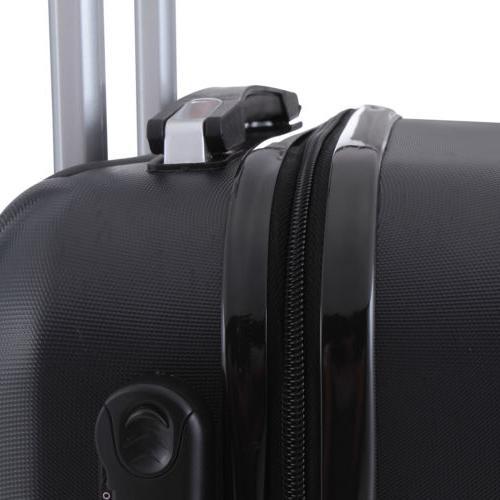 4Pcs On Travel Luggage Bag Suitcase Black
