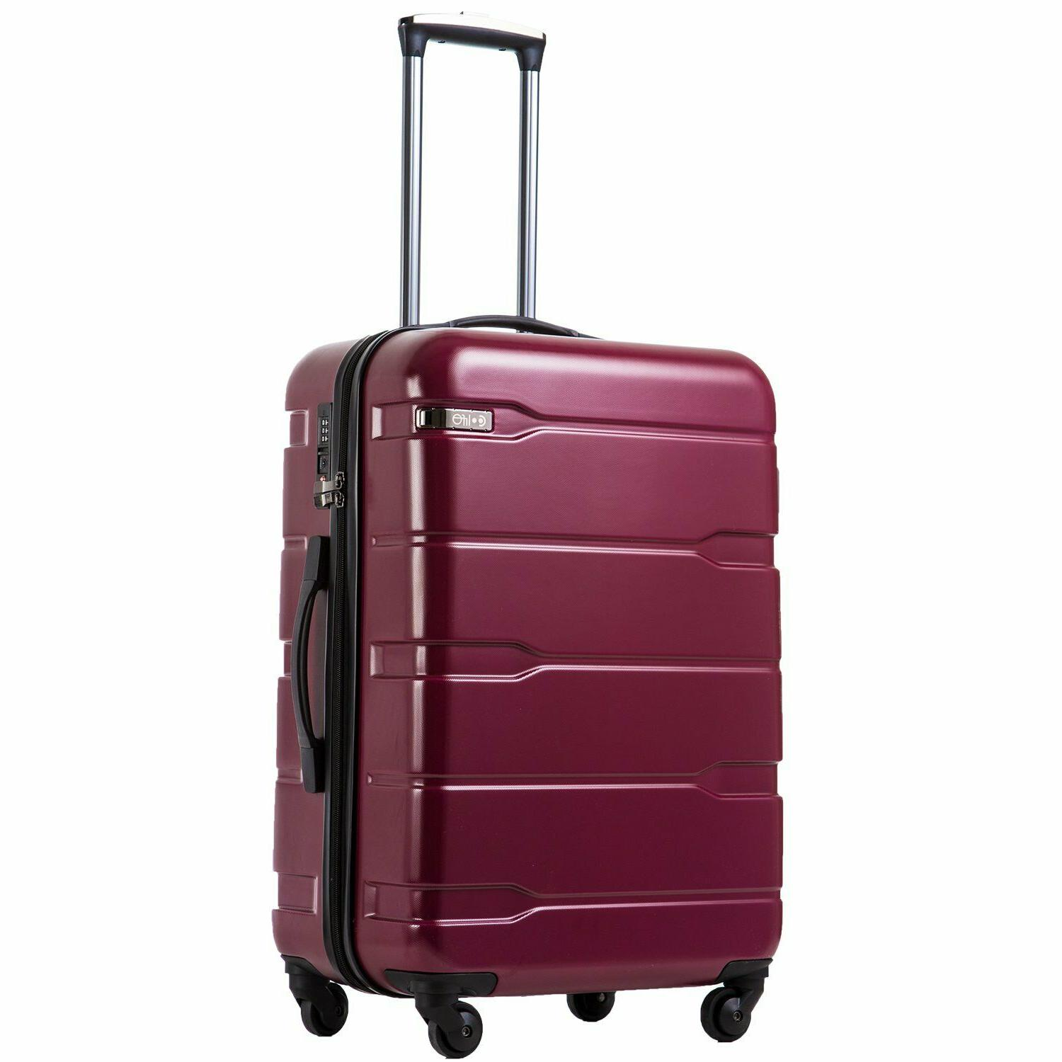 luggage suitcase pc abs spinner built in