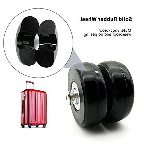 B.LeekS Suitcase with Inline Wheels with Multiple One