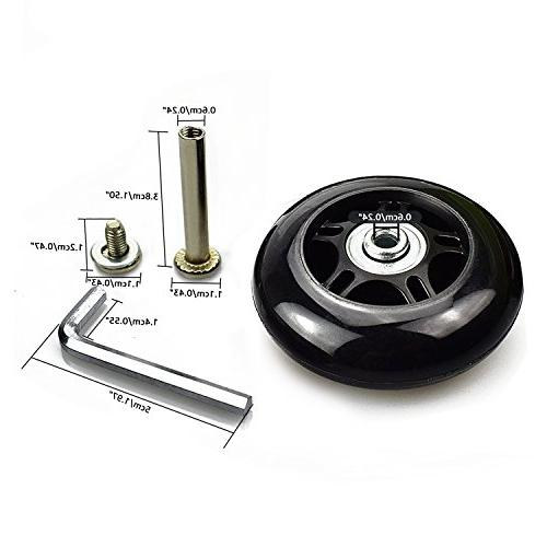 B.LeekS Luggage Wheels with 608zz Inline Replacement Wheels with Multiple One Set Wheels