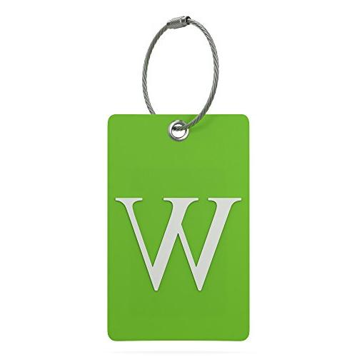 luggage tag initial fully bendable tag w