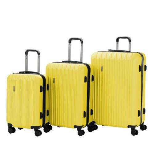 Luggage Travel ABS Trolley 360° Spinner Carry On Suitcase Lock