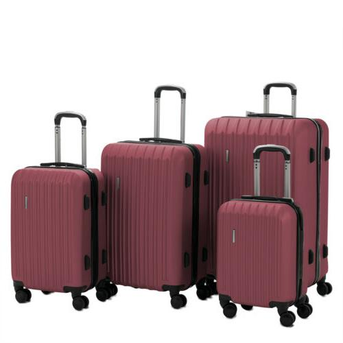 Luggage Set Bag ABS Carry with Lock