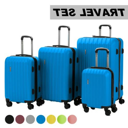 luggage travel set bag abs trolley 360