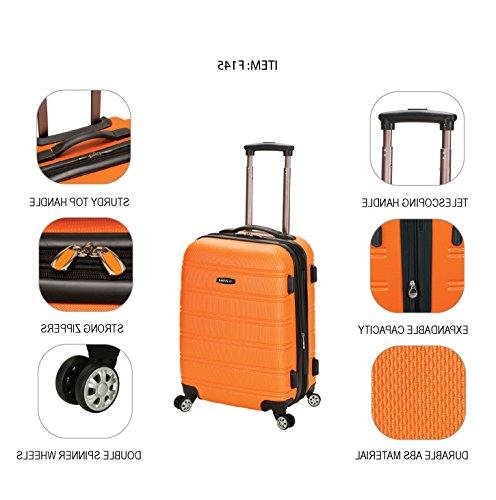 """Rockland 20"""" Abs Carry On, Charcoal"""