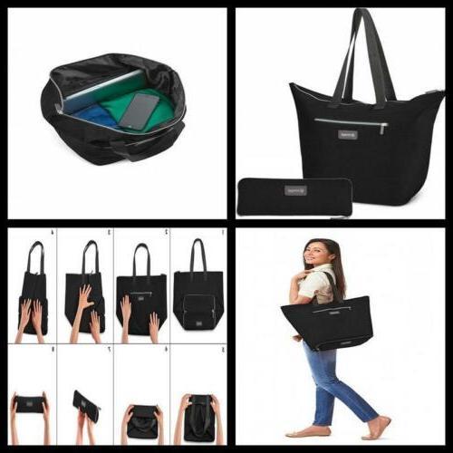 luggage zipsak outdoor microfold shopper tote travel