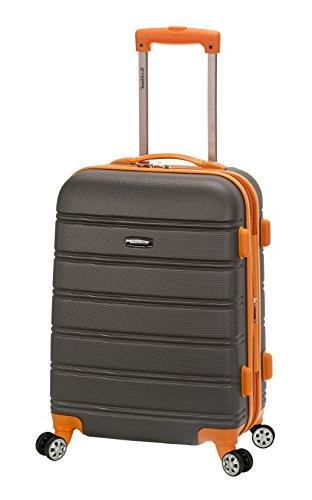 "Rockland Melbourne 20"" Expandable Abs Carry On, Charcoal"