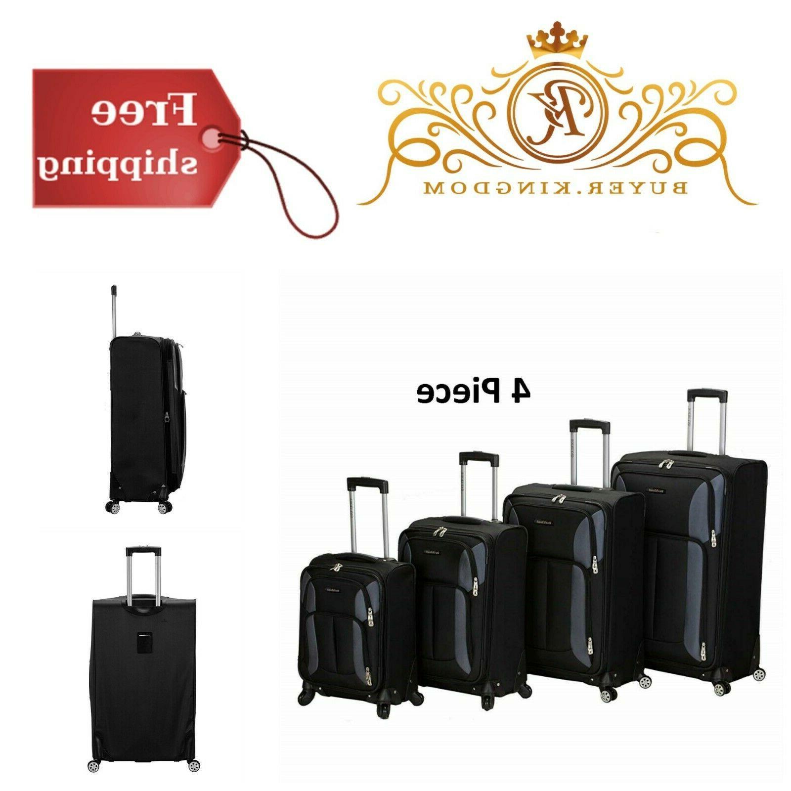 modern sturdy ergonomic impact spinner luggage set