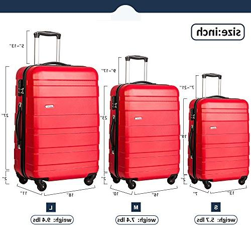 Piece Luggage Spinner Suitcase 24 28inch