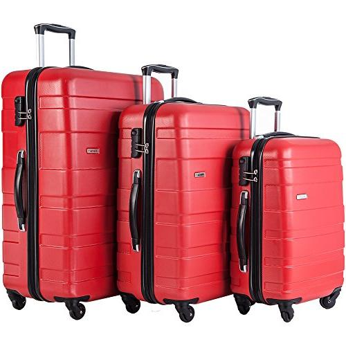 mt imagine 3 piece luggage set spinner