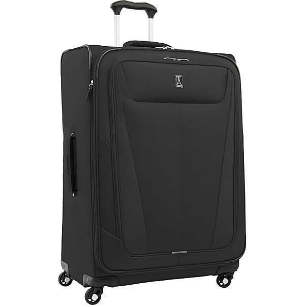 new 29 expandable spinner suitcase luggage softshell