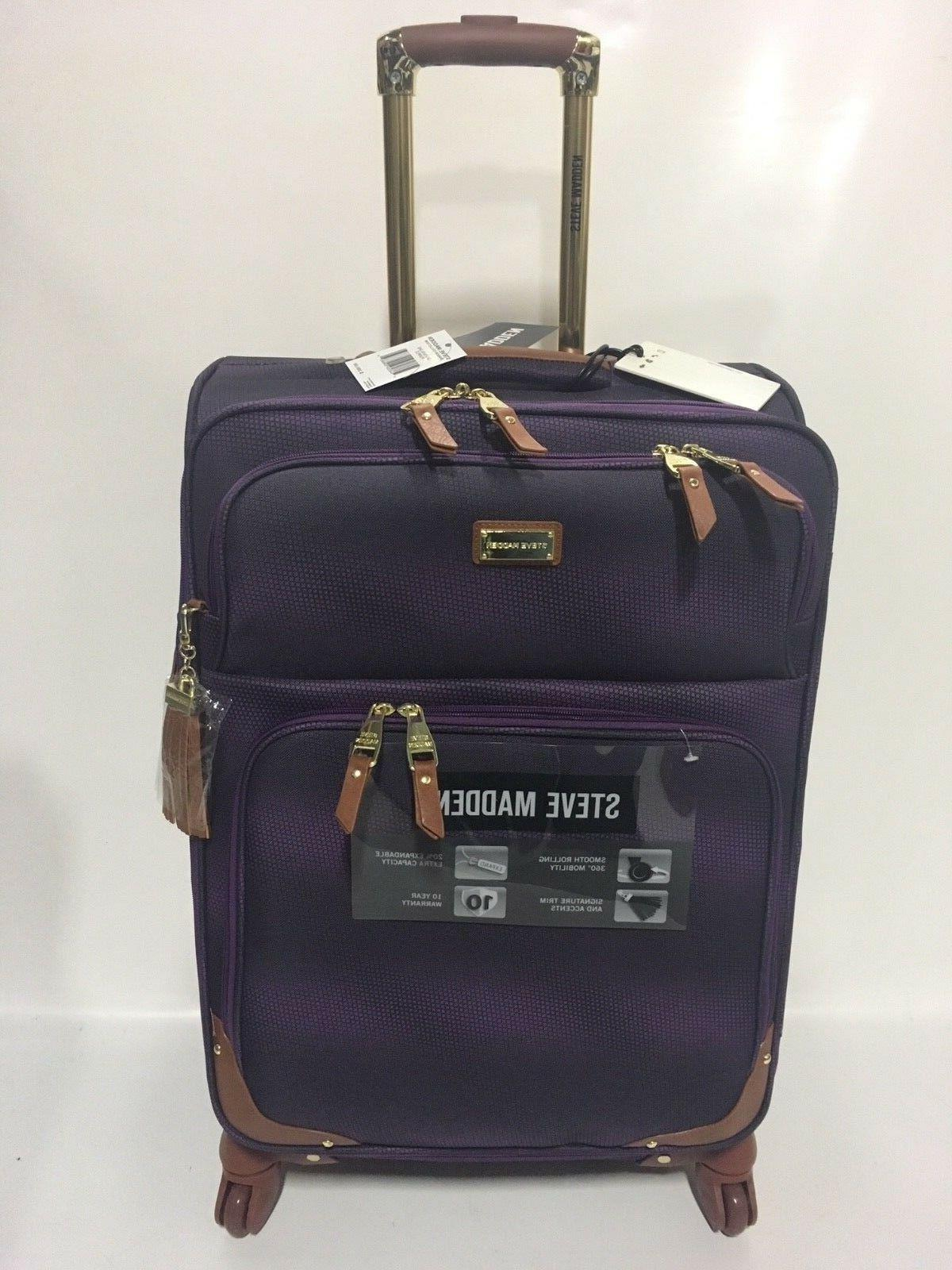NEW 3PC STEVE SPINNER SHADOW COLLECTION LUGGAGE SET