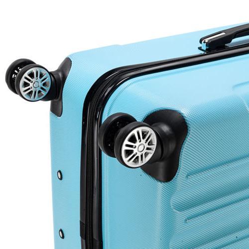Hardside 3 Piece Spinner Suitcase Luggage With TSA Lock