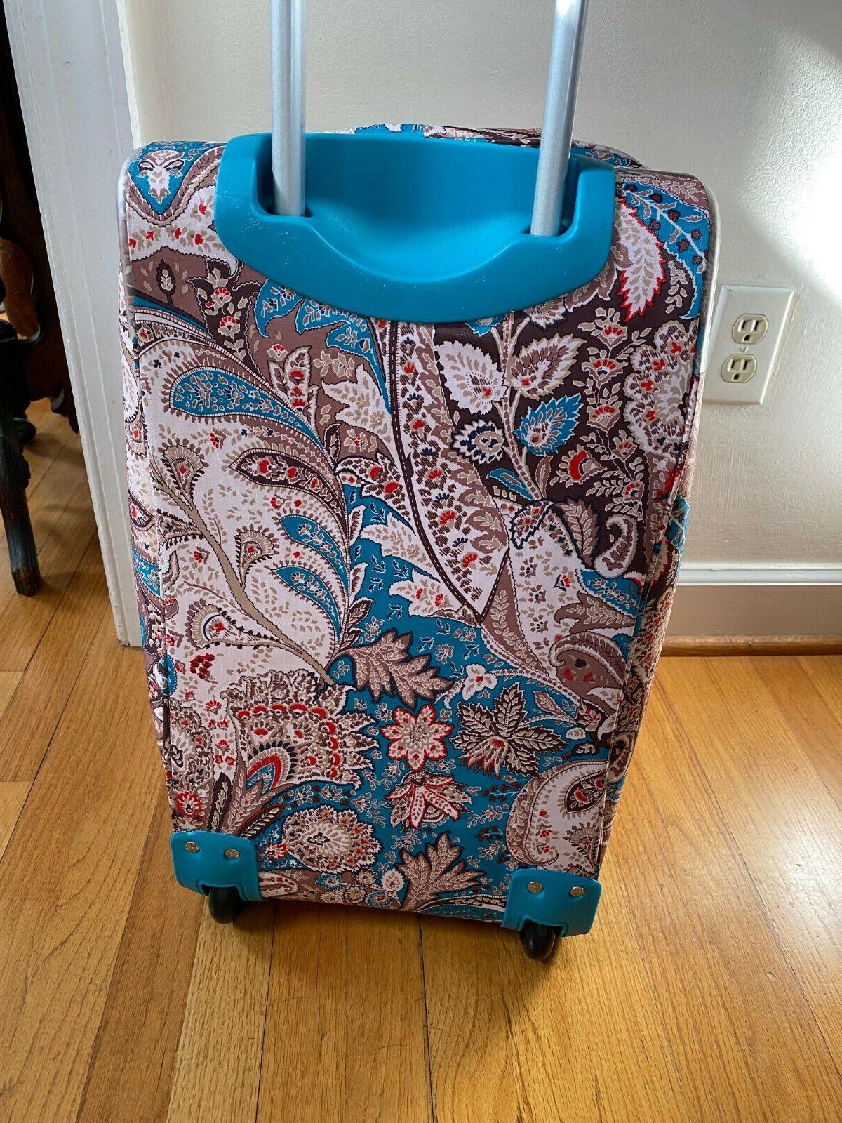 NWT Olympia On Bag Luggage Paisley