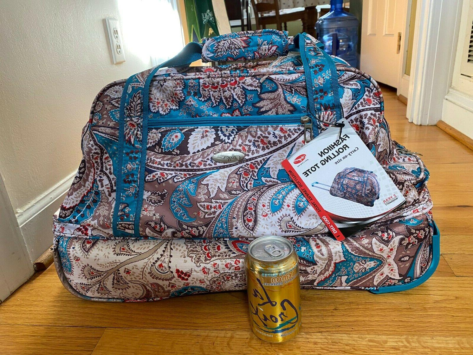 NWT Olympia On Size Tote Bag Luggage Paisley