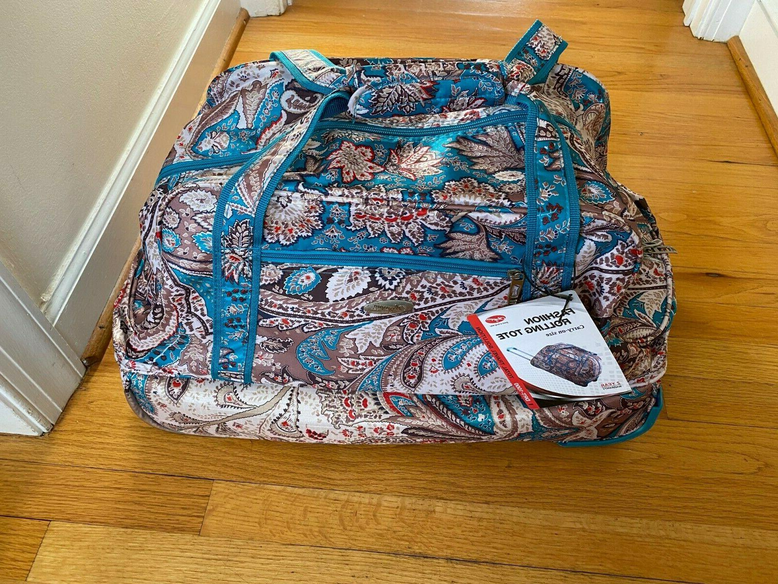 nwt rolling carry on size tote duffle