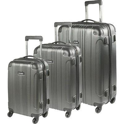 out of bounds 3 piece hardside luggage