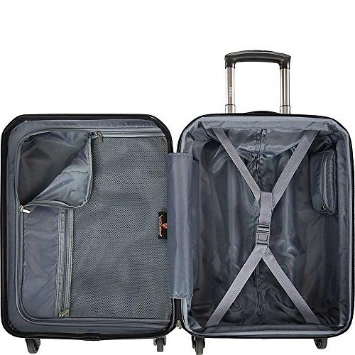 US Traveler Unisex Piazza 2-Piece Set Black 29.75 x 20