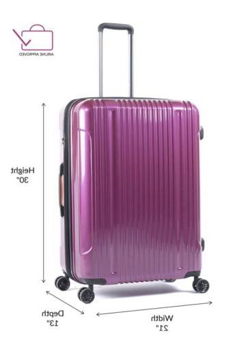 Pinnacle Sided Luggage Travel Expandable Zipper Rolling