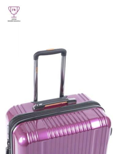 Pinnacle 28 in. Hard Sided Luggage Travel Zipper Rolling