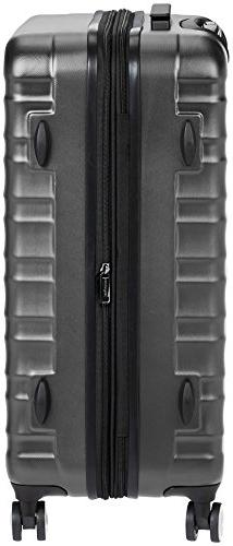 AmazonBasics Hardside Spinner Luggage with Lock - 3-Piece ,