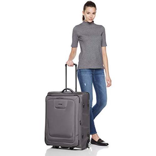 AmazonBasics Upright Softside Suitcase with 22/26-Inch, Grey