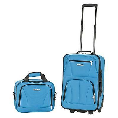 Rockland Rio Upright Carry-On & Set Turquoise