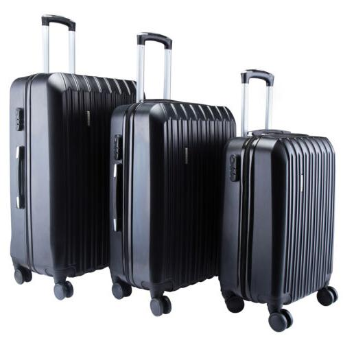 "20"" 24"" 28"" 3Pcs Luggage Set Travel Bag ABS Trolley Spinner"