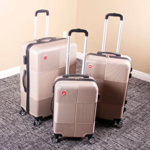 Set of Premium Luggage Set Trolley Suitcase Spinner Lock
