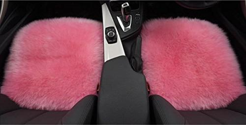Sisha Sheepskin Cover Winter Wool Universal Fit for Car, Truck, Van Pink