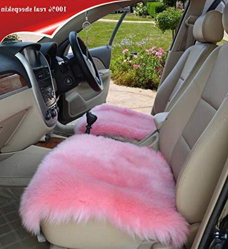 sheepskin seat cushion cover winter warm natural