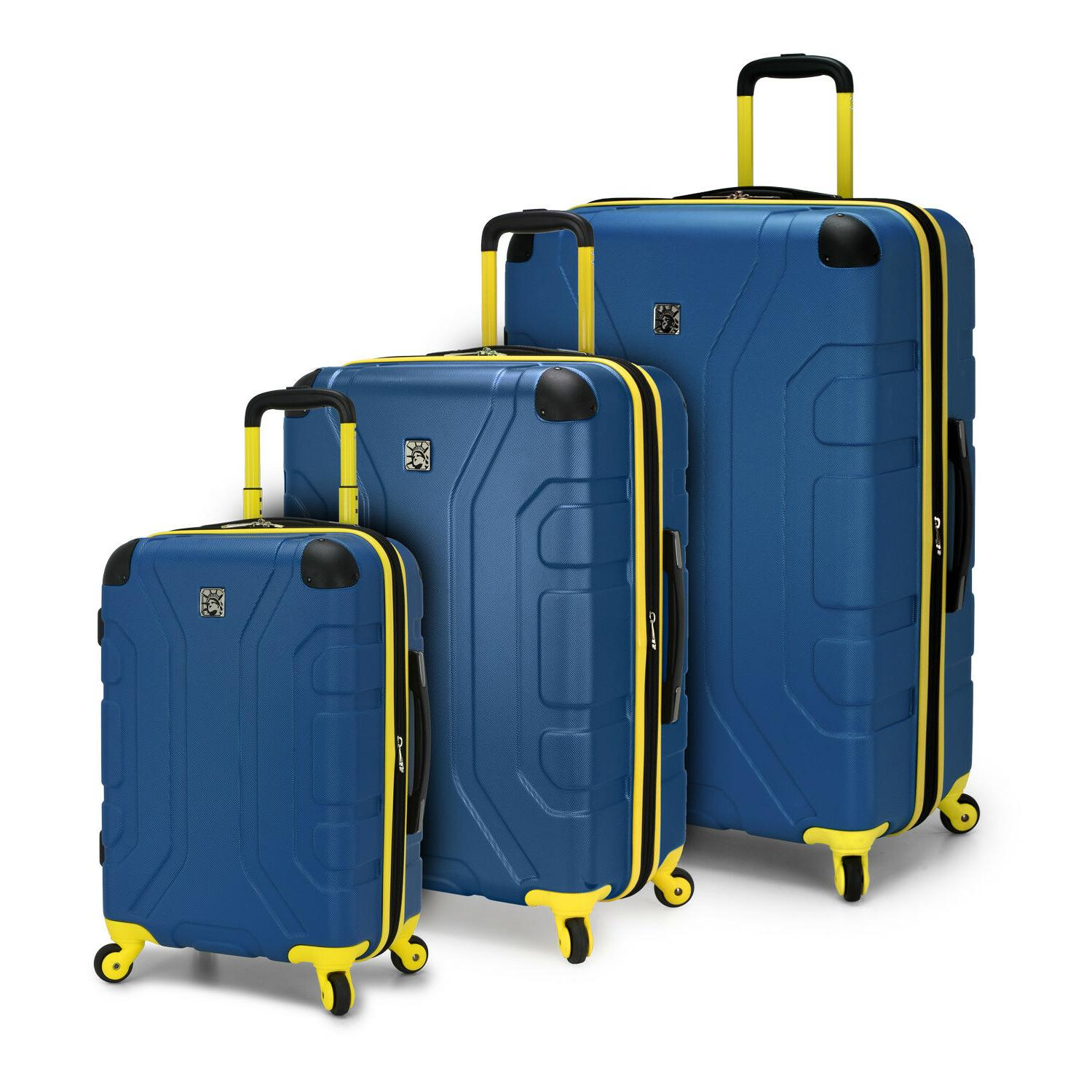 sky high 3pc hardside expandable spinner luggage