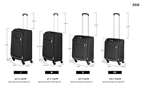 AmazonBasics Softside Spinner Luggage -