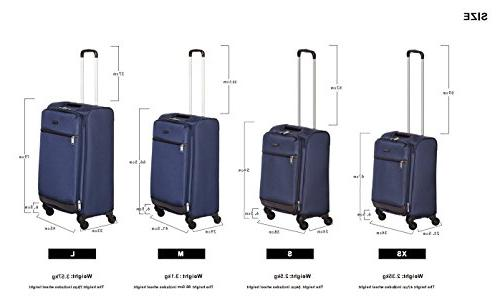 AmazonBasics Softside Spinner 18-inch Carry-on/Cabin Size, Blue