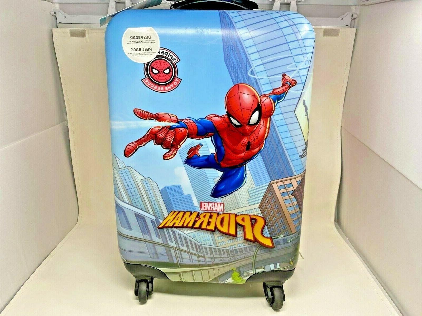 spiderman hardside spinner luggage for kids 18