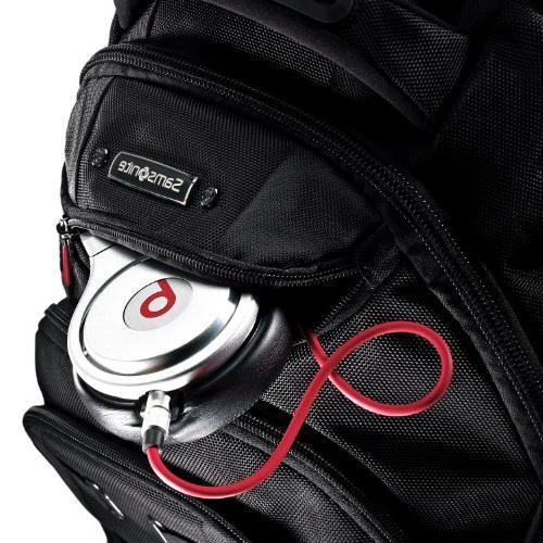 Samsonite for Black, Red Resistant Interior, Resistant Shoulder Strap Polyester, Ballistic - Friendly x 13.5 Width 9