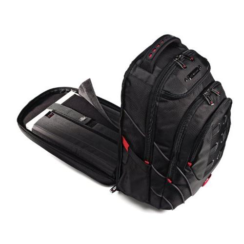 Samsonite Tectonic Case for 17 Notebook - Black, Resistant Interior, Slip Resistant Shoulder Strap - Polyester, Ballistic Fabric - Friendly - Shoulder x Width 9