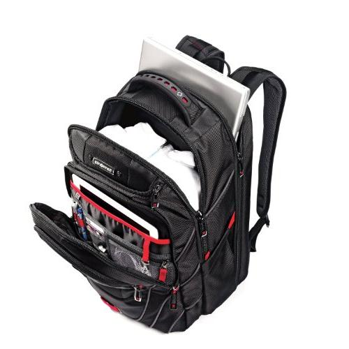 Samsonite Carrying for 17 Black, Red - Resistant Interior, Shoulder Strap Polyester, Ballistic Friendly Shoulder Strap, Handle - x x 9 Depth