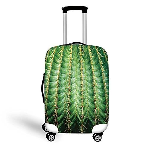 travel luggage cover suitcase protector cactus decor