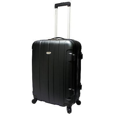 traveler s choice rome 25 black hardside