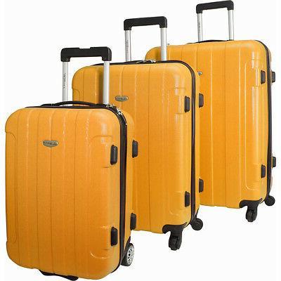 traveler s choice rome 3 piece hardshell